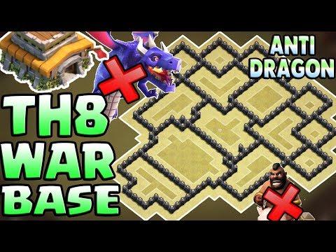 Town Hall 8 ( TH8 ) War Base 2018 | Anti Dragon / Anti Everything / Anti 3 Star | Clash Of Clans