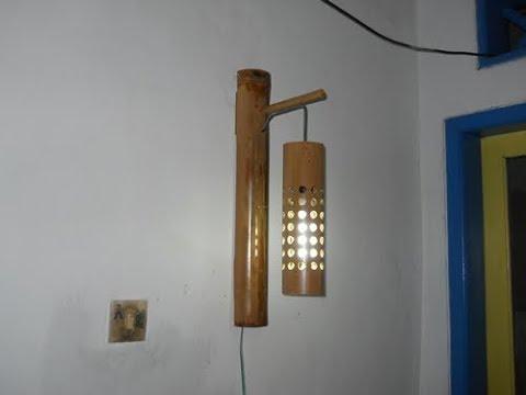 Cara Pembuatan Lampu Dinding Gantung Dari Bambu Youtube