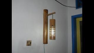 Cara Pembuatan Lampu Dinding Gantung Dari Bambu