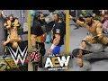 WWE FIGURE SETUP! WWE VS AEW EDITION!