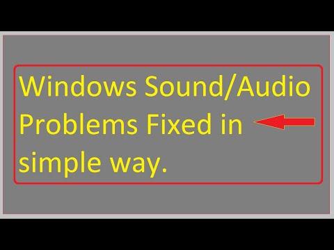 Fix Sound Problems In  Windows 10 8 7 XP