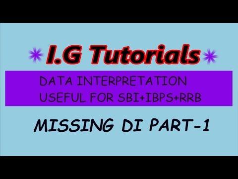 MISSING Data Interpretation Part-1 For IBPS/SBI/RRB:- Smart Approach/Best Trick/short Trick