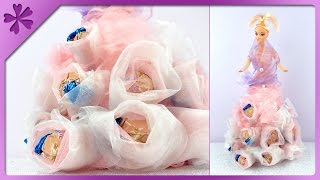 DIY Candy doll, gift for birthday (ENG Subtitles) - Speed up #91