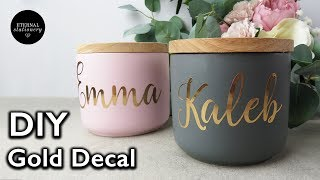 How to make Viฑyl decal stickers from start to finish | How to apply Vinyl Decals | Adhesive Foil