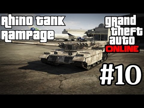 GTA Online Rhino Tank Trolling In Free Roam Grand Theft Auto 5 Multiplayer Tank Gameplay GTA5 GTAV