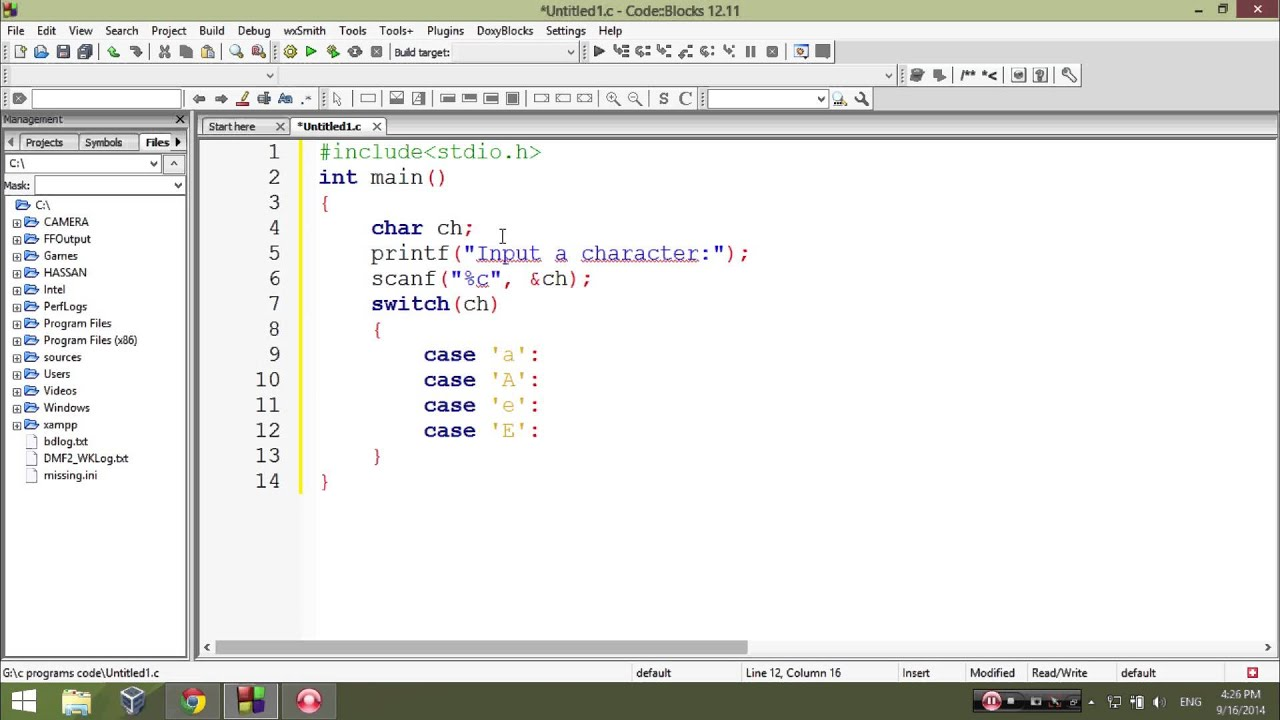 C Program To Check Vowel Using Switch Statement Learn C