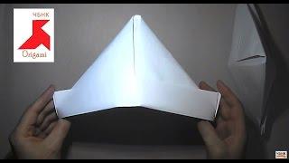 как сделать Шляпу  из бумаги своими руками. Оригами шляпка из бумаги