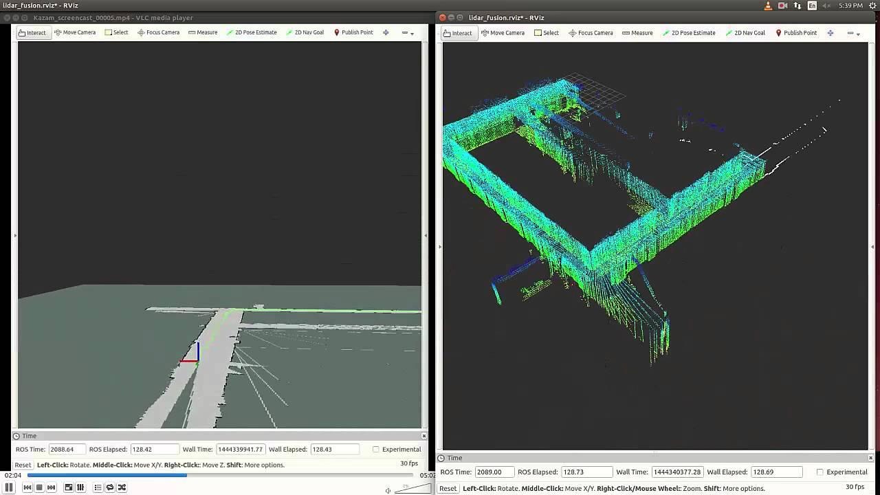 Real-Time LiDAR for 2D/3D SLAM
