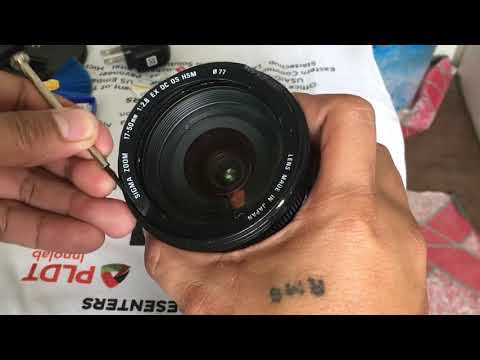 Sigma 17-50 lens - HOW TO REMOVE FUNGI AND OPEN