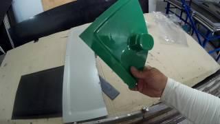 видео термоформование, обработка полимеров