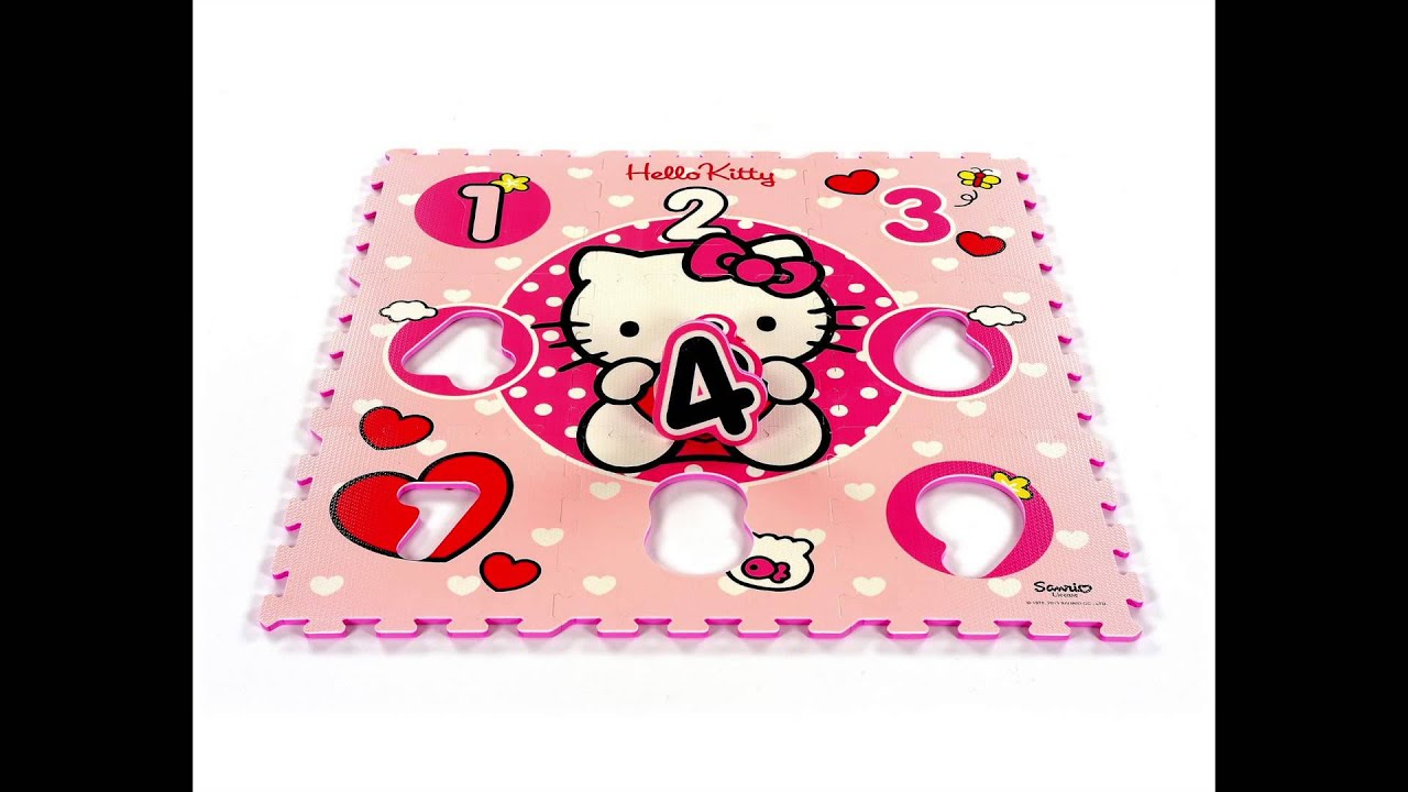 Tapis Puzzle Hello Kitty Tapis Puzzle 123 Coeurs Youtube