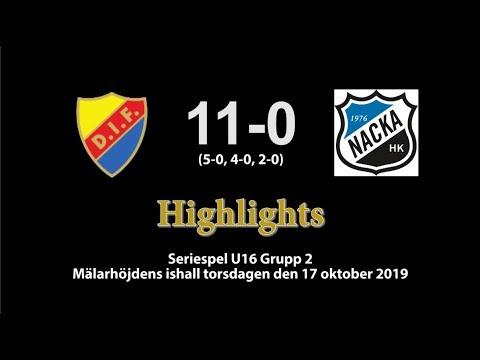 20191017 DIF-Nacka 11-0. Highlights