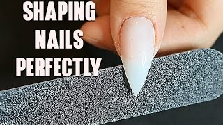 HOW I SHAPE MY NAILS | Fake Nails 101