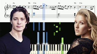 Kygo - First Time feat. Ellie Goulding - Piano Tutorial + SHEETS