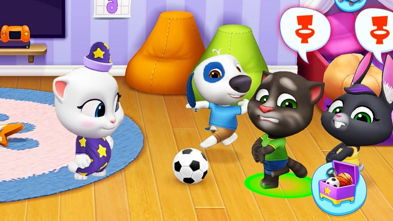 My Talking Tom Friends 🐱 Part 4 (Outfit 7) Toilet Drama (Android, ios)