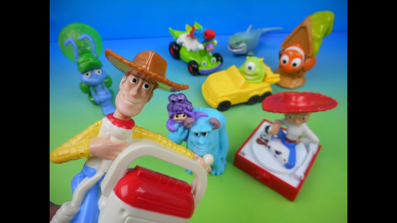 2004 Disney Pixar Mcdonalds Set Of 8 Happy Meal Kids Toys