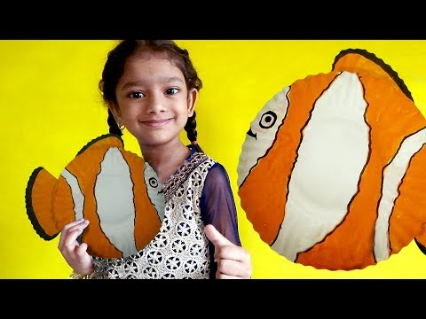 How To Make Diy Fish Using Paper Plates | Diy Paper Plate Fishes For Kids