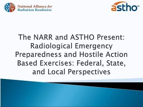 Webinar: Radiological Emergency Preparedness and Hostile Action Based Exercises