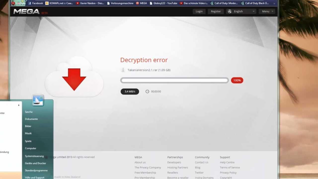 decryption error mega solucion mac