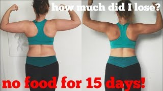 HONEST 15 DAY WATER FAST REVIEW - how to lose weight fast