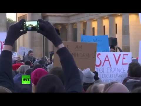 Anti Trump rally in Berlin streamed live