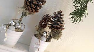 Jak zrobić drzewko z szyszką, ozdoba na Boże Narodzenie