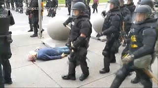 GRAPHIC CONTENT: Buffalo Police Officers Shove Elderly Protester to the Ground