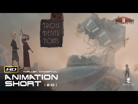 2D Animated Short Film TROIS PETITS POINTS Conceptual Thriller Animation by GOBELINS