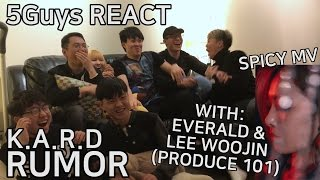 [TRASH FANS] K.A.R.D - RUMOR w/ LEE WOOJIN (PRODUCE 101) & Everald (5Guys MV REACT)