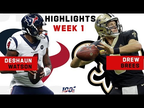 Deshaun Watson vs. Drew Brees CLUTCH DUEL! | NFL 2019 Highlights