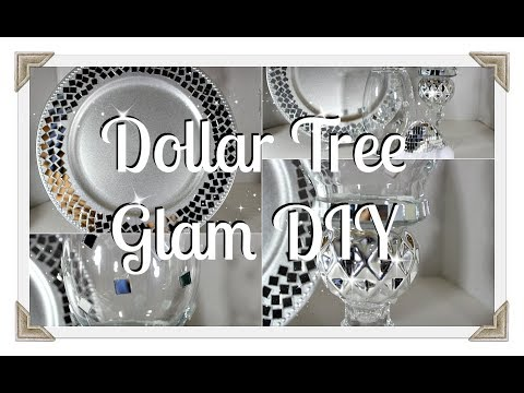 ❄️💎Dollar Tree DIY|| 💎Glam Candle Stands And Chargers❄️💎