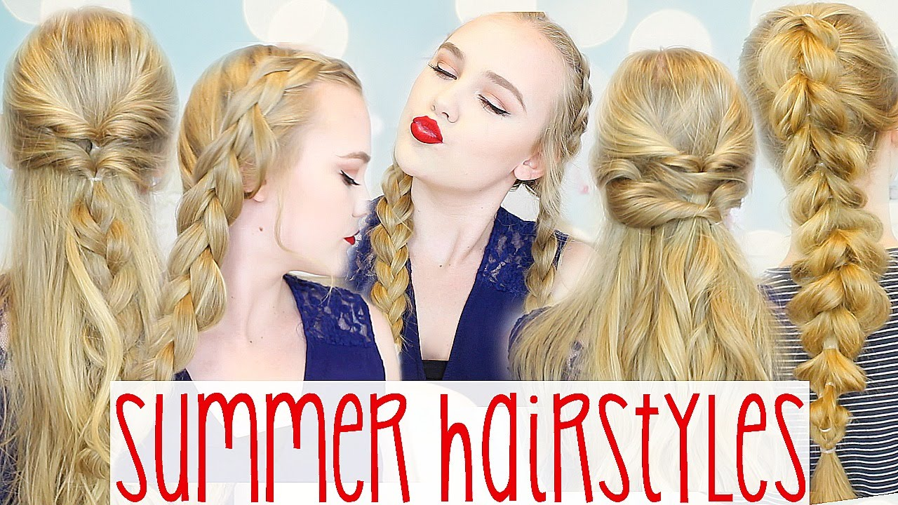 5 Easy & Cute Go To Summer Hairstyles YouTube