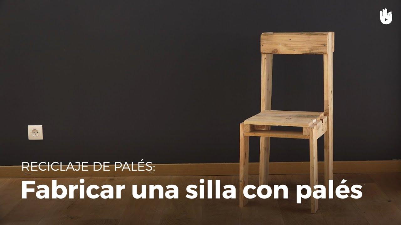 C mo fabricar una silla con pal s reciclados reciclaje - Como se elabora una silla de madera ...