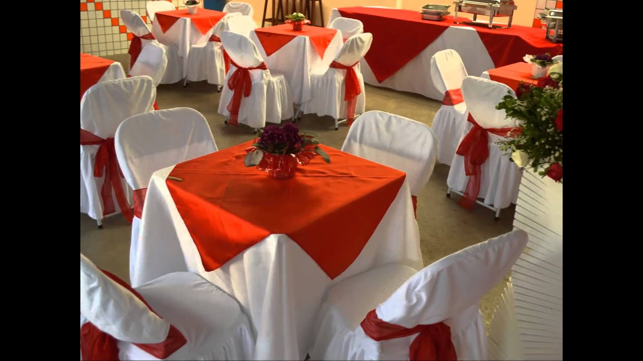 Decoraç u00e3o casamento Vermelho e Branco, Ariane e Lucas, Martins Eventos YouTube -> Decoração Para Casamento Vermelho Branco E Dourado