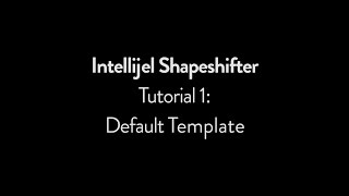 Intellijel Shapeshifter Tutorial 1: Default Template