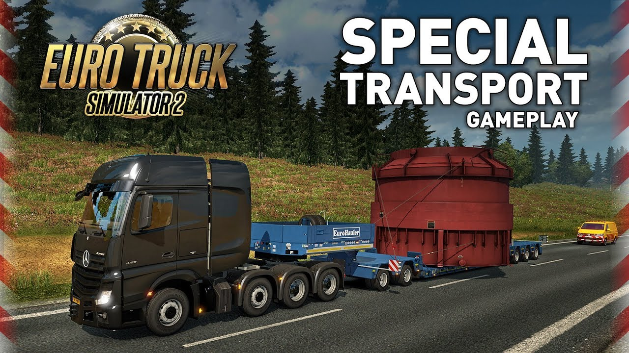 Euro Truck Simulator 2 - Special Transport Gameplay - YouTube