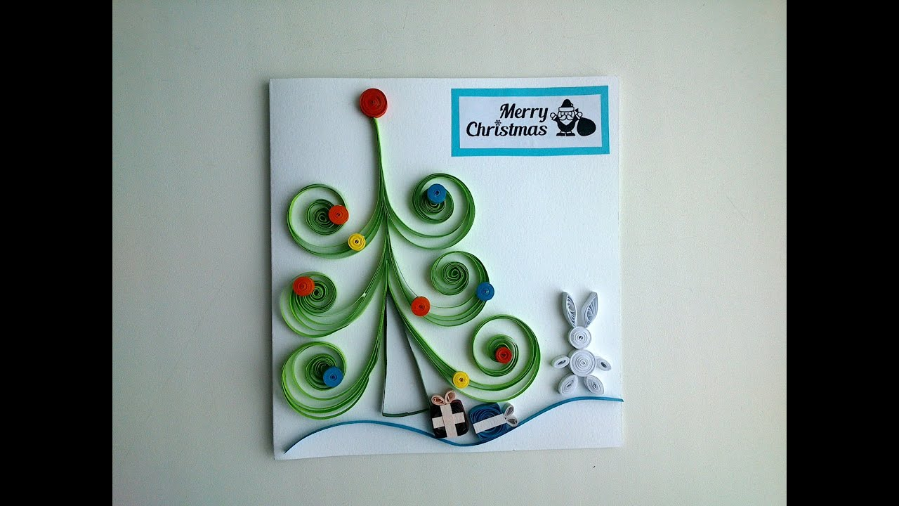 Quilling cards make beautiful quilling christmas card for Quilling how to