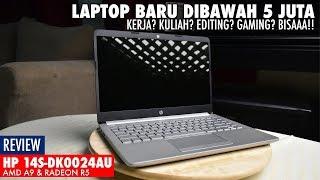 Laptop Baru murah dibawah 5 juta! Kerja, editing & gaming ringan (HP 14S-DK0024AU Review Indonesia)