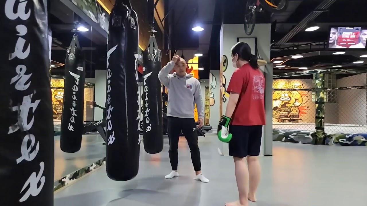 초보자 샌드백치기 기본 동작!