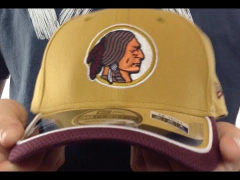 Redskins  2014 NFL STADIUM THROWBACK FLEX  Gold Hat by New Era - YouTube 8f729debb