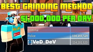 NEW JAILBREAK GRINDING METHOD! $1,000,000+ PER DAY! (Roblox)