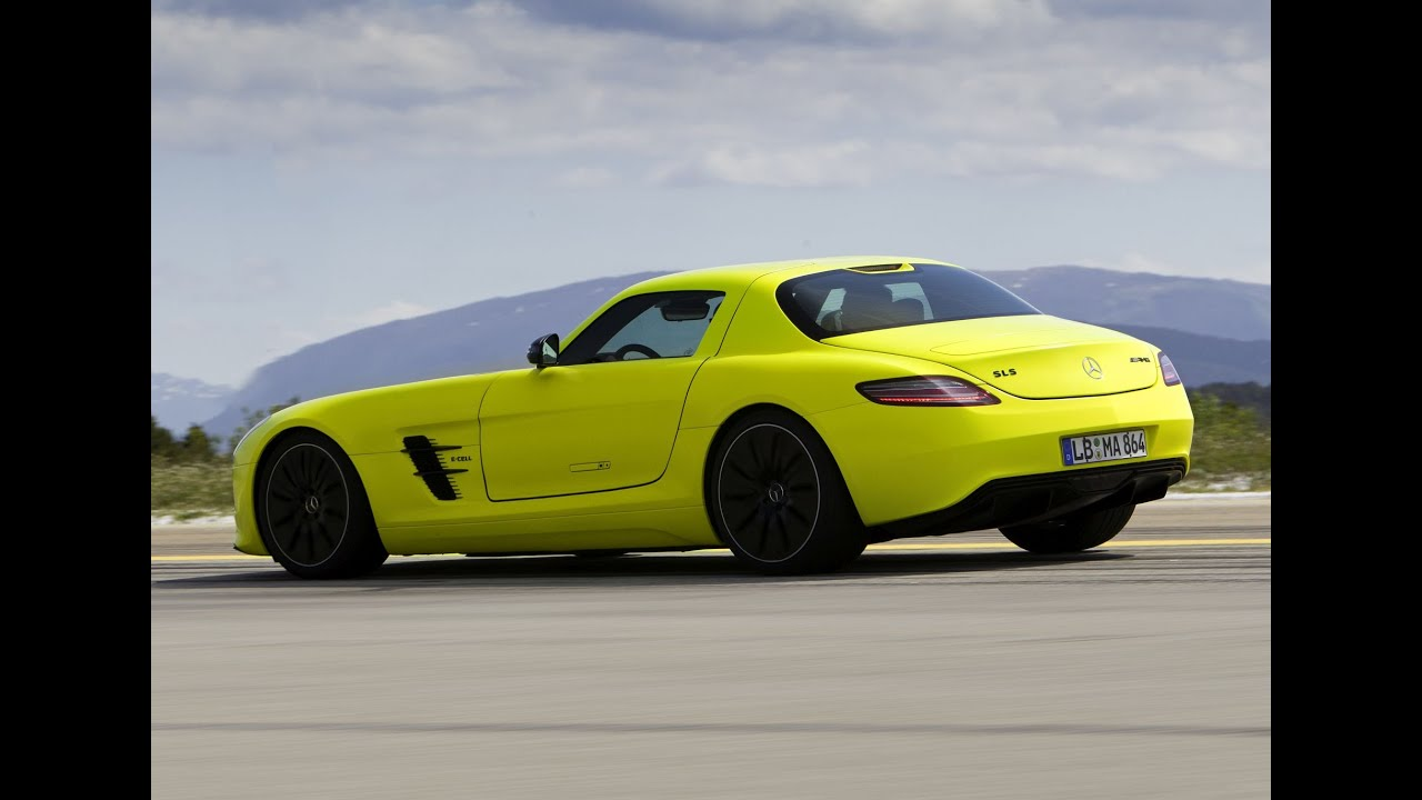 mercedes sls amg coup electric drive footage