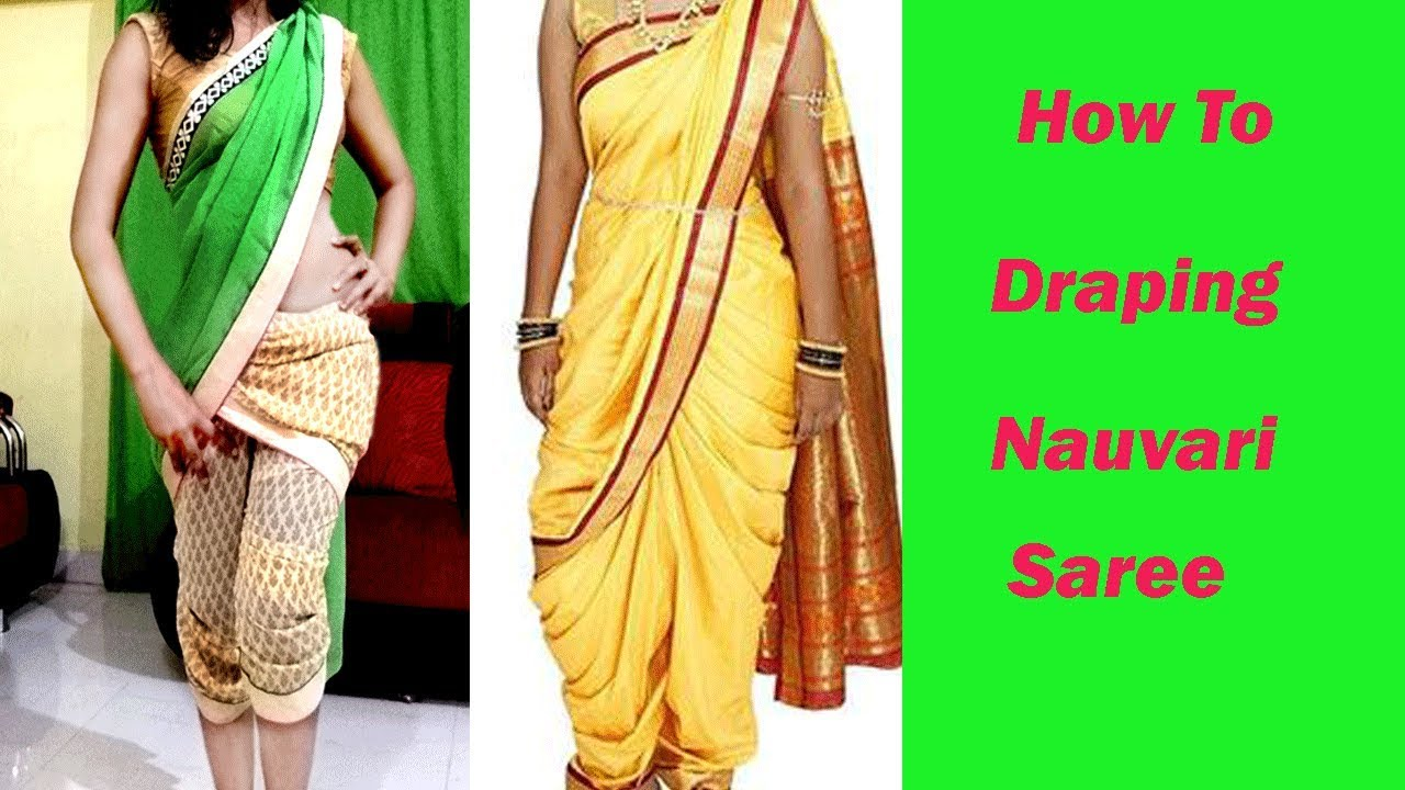 Fashion style How to maharashtrian wear lavani saree for girls