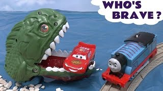 Piranha Cars Hot Wheels Thomas The Train Play Doh Surprise Eggs Halloween Spooky Playdough Dragon