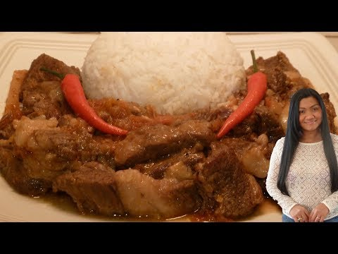 The Best Filipino Beef Adobo (Filipino Beef Stew) Adobong Baka / Filipino cooking channel in English