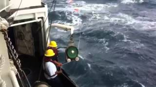 Buoy and trap retrieval on the Pisces