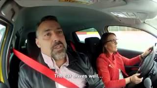 Renault Clio RS 200 EDC Speed Dating Commercial TV Advert 2013 with Caroline a Very Fast Car Driver