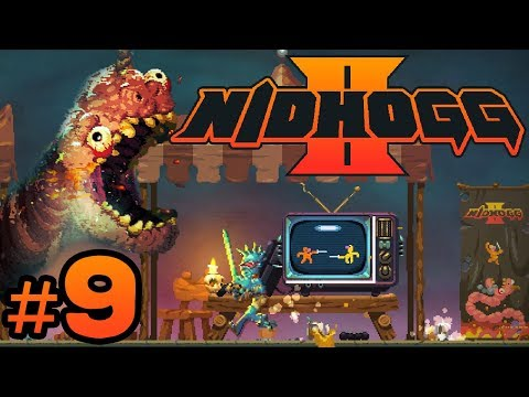 Nidhogg 2 - #9 - PAX Place NEW LEVEL!! (4 Player Gameplay)