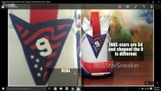 Real Vs Fake Unauthorized Air Jordan 7 Olympic Tinker Alternate
