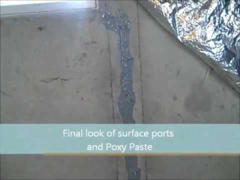 Leaking Basement Concrete Control Joint Repair:Polyurethane Crack Injection